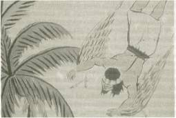 Dibujo shuar que representa el vuelo